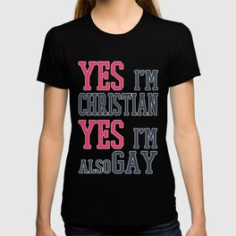 yes im cristian - Gay Pride T-Shirt T-shirt