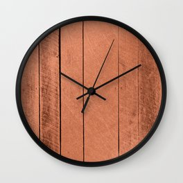 Rose gold antique wood Wall Clock