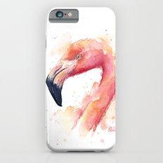 Flamingo Watercolor Pink Bird Tropical Animal Slim Case iPhone 6s