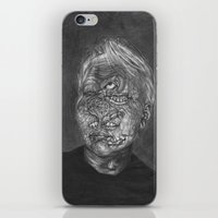 no face iPhone & iPod Skins featuring Face by hannoia