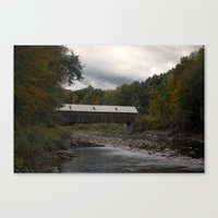vermont Canvas Prints featuring Vermont by memoryradio