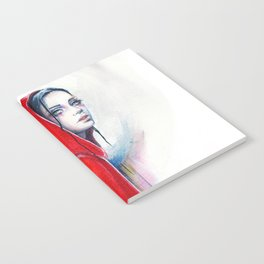 What big eyes you have - ink illustration Notebook
