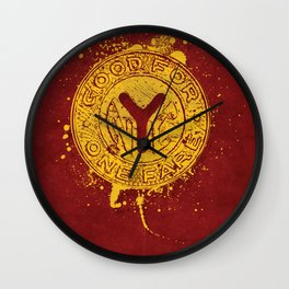 NYC Token (Red) Wall Clock
