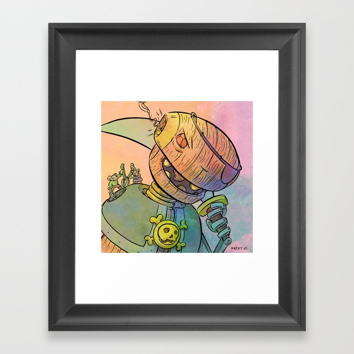 Robot Pirate Framed Art Print