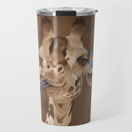Giraffe with Bird Travel Mug