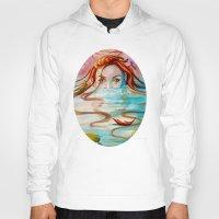 siren Hoodies featuring Siren  by Amanda Sharples Illustration