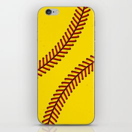 Fast Pitch Softball iPhone Skin