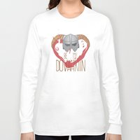 skyrim Long Sleeve T-shirts featuring be my dovahkiin by laPanny