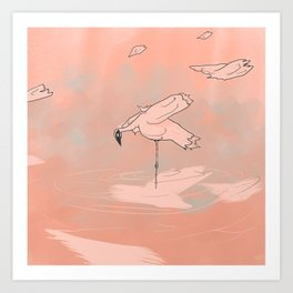 Arabian Flamingo Art Print