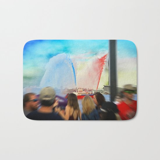 Fire Boat Bath Mat