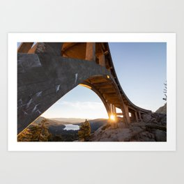 Sunrise over Donner Art Print