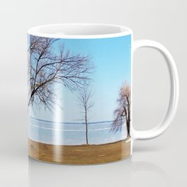 The Tree by the Frozen Lake Coffee Mug