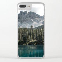 Lake Carezza - Italy -  Fine Art Landscape Photograph Clear iPhone Case