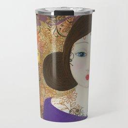 Inspire, Mixed Media Artwork Travel Mug