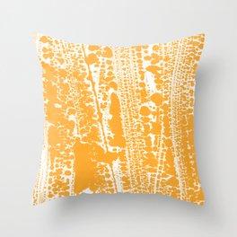 Orange creamsicle Splatter Splash Decor Throw Pillow