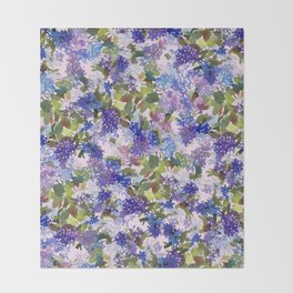 French Lavender Lilacs Throw Blanket