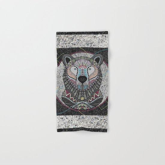 Neon Tribal Bear Hand & Bath Towel