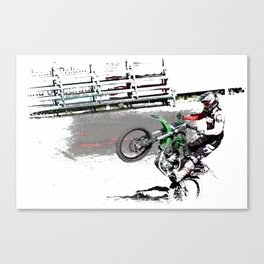 Making a Stand - Freestyle Motocross Rider Canvas Print