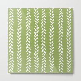 Sap Vines - nature spring leaves green pattern Metal Print