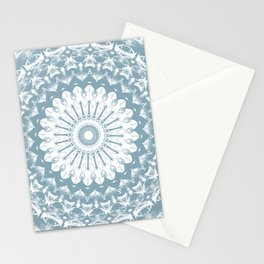 Misty Blue Morning Mandala Stationery Cards