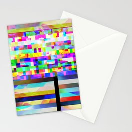 Texture glitched out Stationery Cards