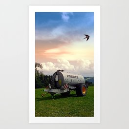Farmer's pride and a swallow | conceptual photography Art Print