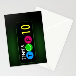 Tennis Top 10 Stationery Cards