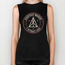 I Attract Love activated magickal sigil valentines day shirt gift Biker Tank