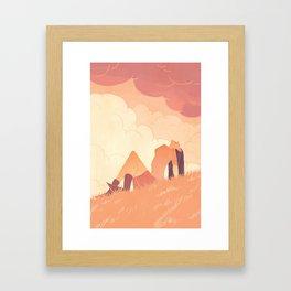 Art book cover Framed Art Print