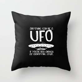Aliens Guy Ancient Astronaut Theorist Throw Pillow