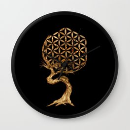 Flower of Life - Tree Wall Clock
