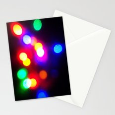 Colourful lights Stationery Cards
