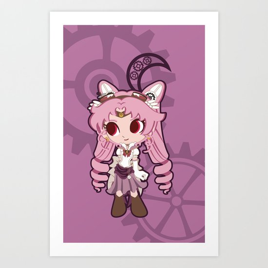 Steampunk Chibimoon - Sailor Moon Art Print