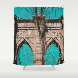 Pop art, Brooklyn bridge photo, New York City, fine art photography, I love NYC Shower Curtain