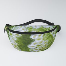 Green Closing Queen Anne's Lace Fanny Pack