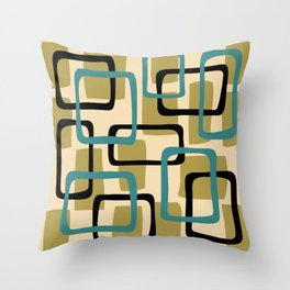 Mid Century Modern Overlapping Squares Pattern 142 Throw Pillow