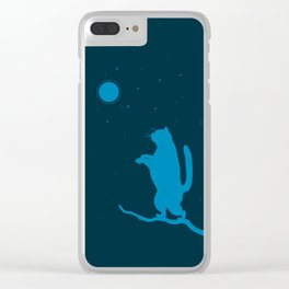 Sleepwalker. Cat illustration Clear iPhone Case