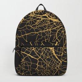 BOSTON MASSACHUSETTS GOLD ON BLACK CITY MAP Backpack