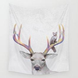 Deer & Marten Woodlan friends Wall Tapestry