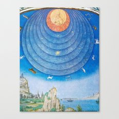 Spheres of Heaven Are Shown As Inside A Dome Canvas Print