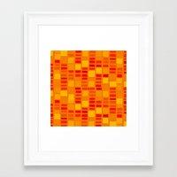 mosaic Framed Art Prints featuring mosaic by Ioana Luscov