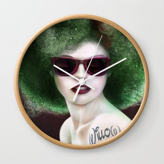 Willow Fro Wall Clock