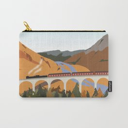 Train on the Glenfinnan Viaduct, Scottish Highlands, Scotland Carry-All Pouch