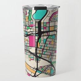 Colorful City Maps: East Los Angeles, California Travel Mug