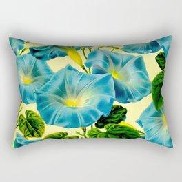Blue Morning Glories Rectangular Pillow