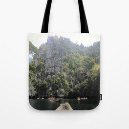 Cliffs of El Nido Tote Bag