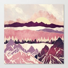 Burgundy Hills Canvas Print