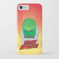 marx iPhone & iPod Cases featuring Marx Attacks! by ericbennettart