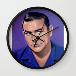Sean Connery | Society6 | S6 | Home | Office | 𝕻𝖔𝖓𝖙𝖊 𝕭𝖎𝖊𝖓 | Art Prints Kwon Wall Clock