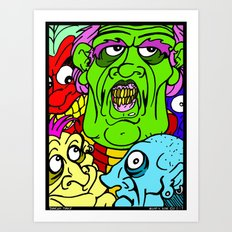 A Bunch of Punks Art Print
